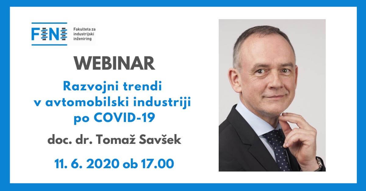 WEBINAR Razvojni trendi v avtomobilski industriji po COVID-19
