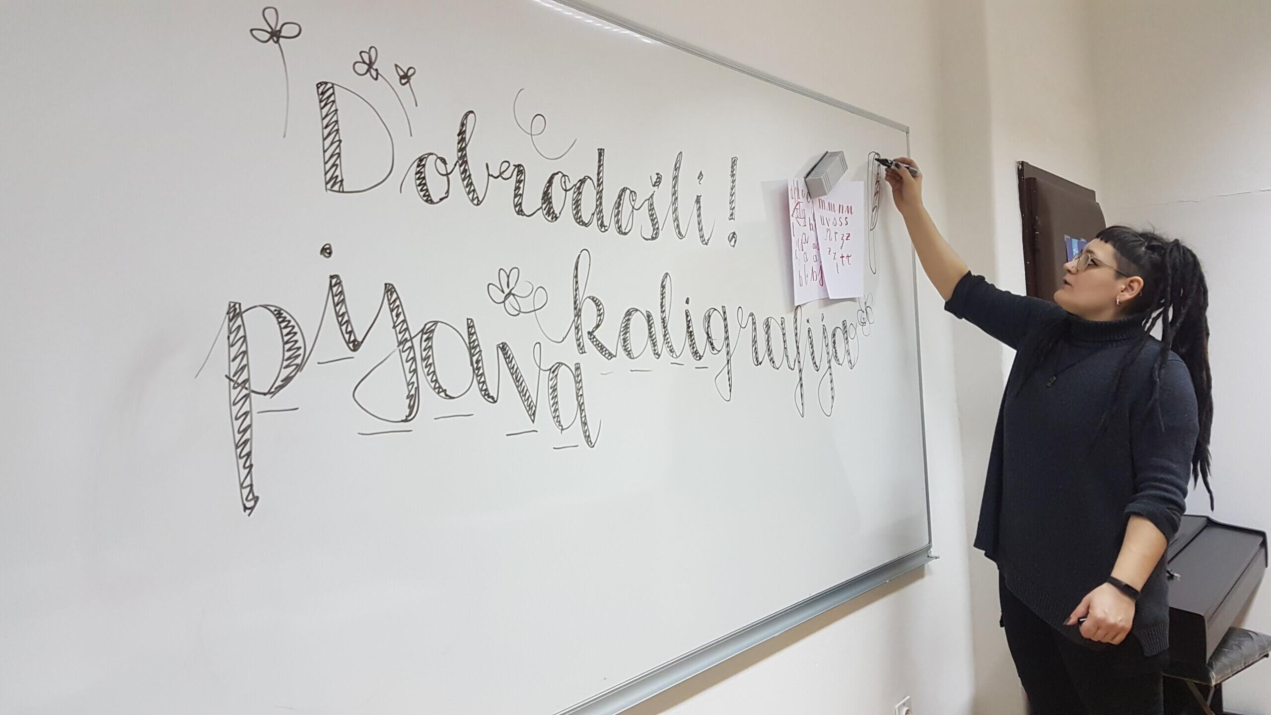 Delavnica kaligrafije (24. 9. 2020)